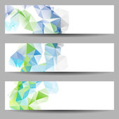 Set of banners with abstract triangles — Vecteur