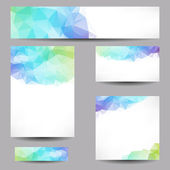 Backgrounds with abstract triangles — Stock vektor