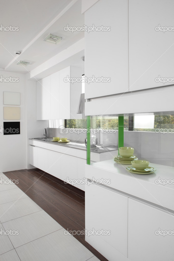 European brand new bright kitchen in the house — Stock Photo #13378690