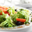 Fresh salad with tasty garnish — Stok fotoğraf