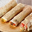 Hot shawarma with vegetables — Stock Photo #14358971