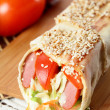 Hot shawarma with vegetables — Stock Photo #14358983