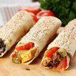 Hot shawarma with vegetables — Stock Photo #14358997