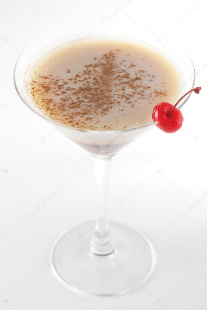 Fresh and cold cocktail on white background  Stock Photo #14358985