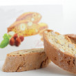 Sweet cantuccini on white background - Stock Photo
