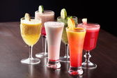 Cold and colorful cocktails — Stock Photo