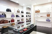 Luxury european bag store — Stock fotografie