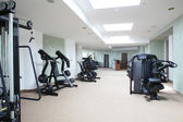 Bright gym with a lot of windows — Stock Photo