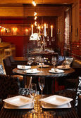 Luxury restaurant in european style — Foto Stock