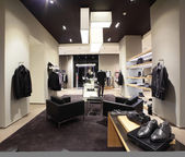 European brand new clothes shop — Stock Photo