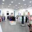 European brand new clothes shop — Stockfoto
