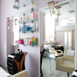 Clean european hair salon — Stock Photo