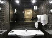 Bright and clean european toilet — Stock Photo