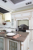 Clean white european kitchen — Stock Photo