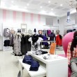 European clothing store with huge collection — Stockfoto