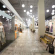 European mall interior with shops — Stock Photo