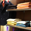 European clothing store with huge collection — ストック写真