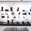 Luxury shoe store with bright interior — Stock Photo
