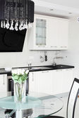 Modern kitchen with stylish furniture — Стоковое фото