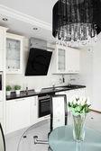 Modern kitchen with stylish furniture — Stock Photo