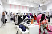 European clothing store with huge collection — Стоковое фото