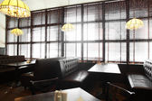 Beautiful interior of modern restaurant — Stock Photo