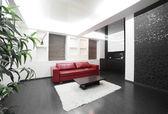 Modern room interior in bright colors — Stock Photo