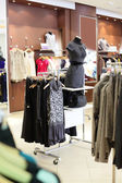 European clothing store with huge collection — Stock Photo