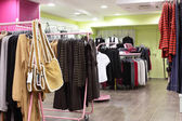 European clothing store with huge collection — Stok fotoğraf