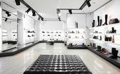 Luxury shoe store with bright interior — Stock Photo