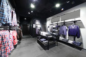 European clothing store with huge collection — Foto Stock