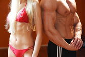 Sexy and great shape bodies — Stock Photo