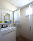Interior of modern toilet in european style — Stock Photo