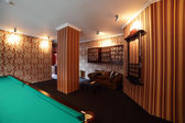 Interior of beautiful and modern billiard — Stok fotoğraf