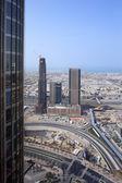 Vista centro città bella di Dubai — Foto Stock