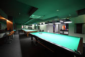 Interior of beautiful and modern billiard — Stock Photo