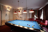 Interior of beautiful and modern billiard — 图库照片