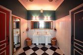 Interior of modern toilet in european style — Stock fotografie