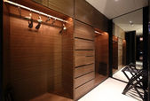 Nice interior of bright cloakroom — Foto de Stock