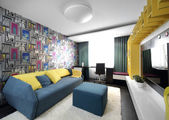 Colourful interior of children room — Foto de Stock