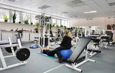 Modern european sport gym without people — Stock Photo