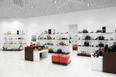 Interior of shoe store in modern european mall — Stok fotoğraf