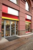 Fenster der schönen europäischen-Shop — Stockfoto
