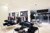 Brand new interior of cloth store — 图库照片