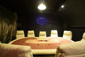 Dark and fashionable casino with tables — Foto Stock