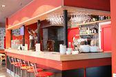 European restaurant in bright colors — Photo