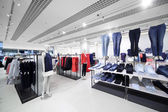Brand new interior of cloth store — Zdjęcie stockowe