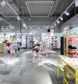 Interior of bright underwear shop — Foto Stock