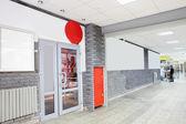 Modern entrance to european restaurant — Stock Photo