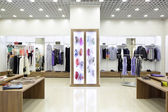 Brand new interior of cloth store — Fotografia Stock